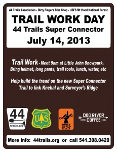 July 14 Trail Work Poster
