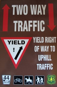 New Yield to Uphill Traffic Signs