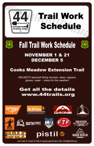 2015 trail work schedule