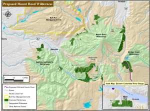 mt hood wilderness proposal map