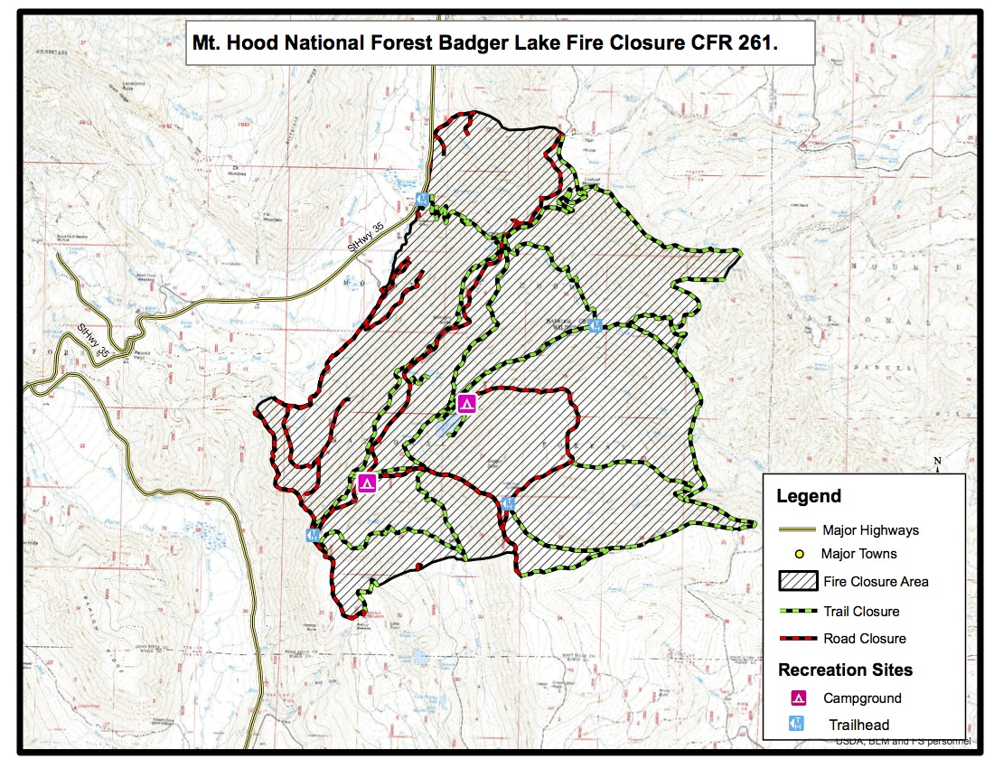 Fire Closure Mt Hood National Forest 44 Trails Association44